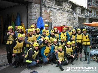 Rafting río Ara; rutas senderismo madrid señalizadas; caminatas sierra madrid